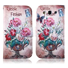 For Samsung Galaxy S3 Mobile Phone Case Hot Luxury PU Leather Magnetic Flip Wallet Stand Cover