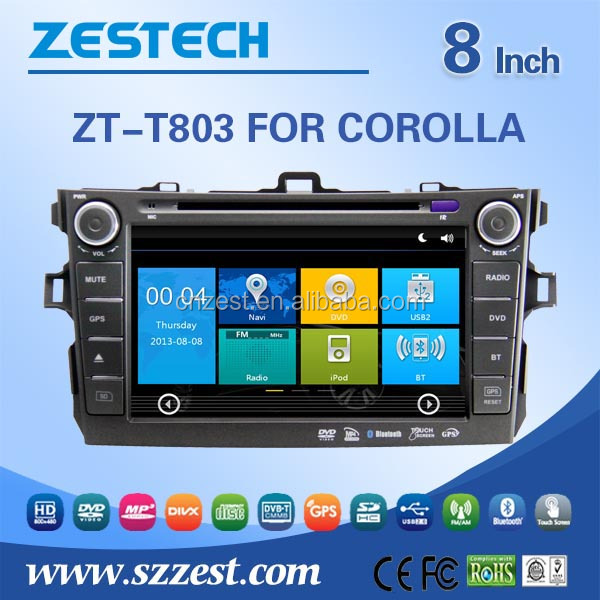 Windows CE 6.0 system 8 inch 2 din car gps for Toyota Corolla 2007 2008 2009 2010 car navigation with car radio multimedia