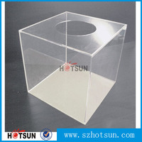 2016 Clear plexiglass Lucky Box, acrylic lottery box for wholesale
