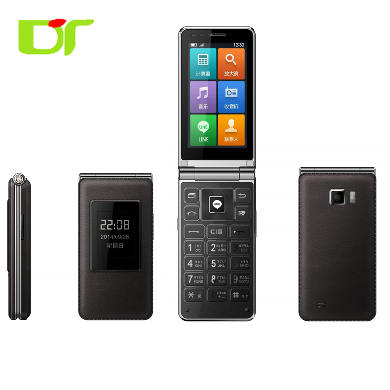 Low price China Flip Mobile phone Android 3.5inch with Dual SIM Card ODM 3G Clamshell phone