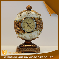 China new design popular clock resin handicraft products
