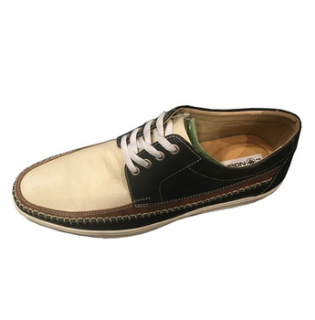 Man Black Action Leather Casual Shoe Original Deck Shoe