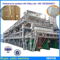 Five wires waste paper, unbleached board recycling 3650mm, 250 ton/day coated paper making machinery