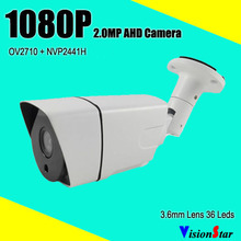 Analog bullet cmos sensor security 1080p hd video cctv 2.0mp outdoor camera