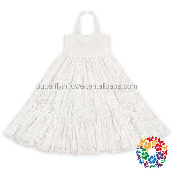 Ivory Floral Lace Knit Cotton Fluffy A style kids frock designs pictures