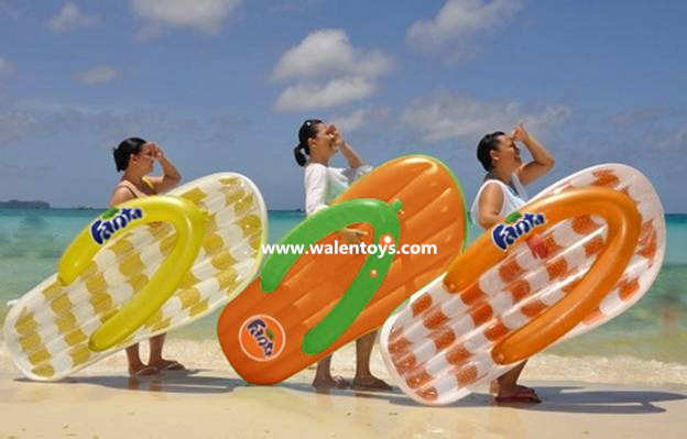 wholesale inflatable flip flop lilo/floats