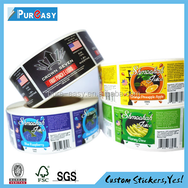 New Style custom printing label sticker factory