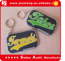 personalized couple keychains cheap with pvc double sides logo