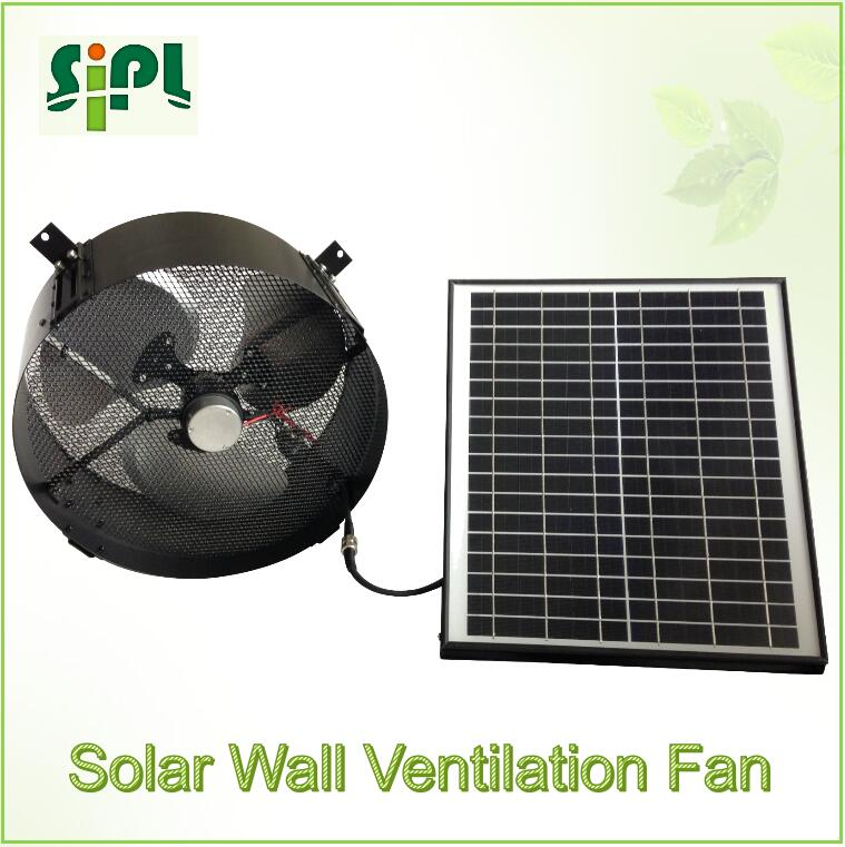 Clean-energy green power solar panel power vent kits air conditioner exhausting wall ventilation fan