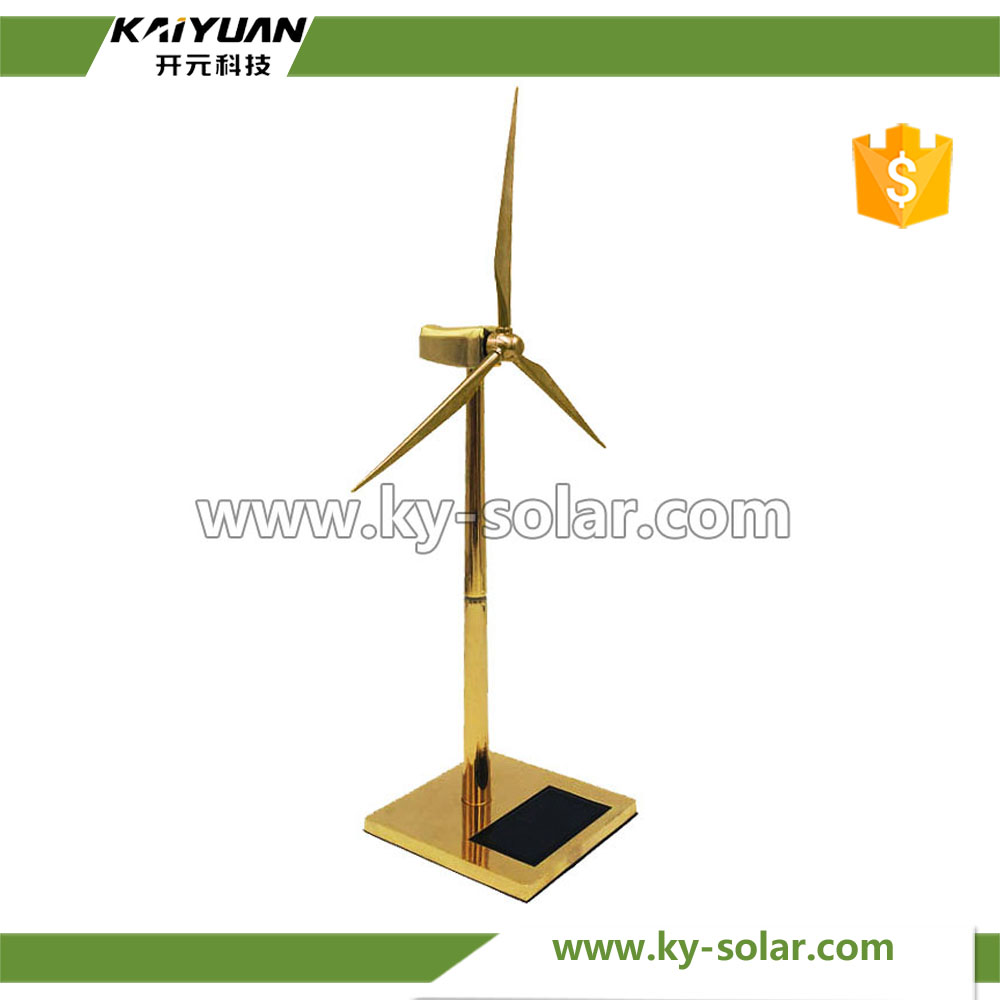 Salable educational golden sunpower solar powered windmill toy