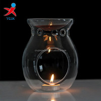 hand blown borosilicate glass votive candle holders/candlestick in glass