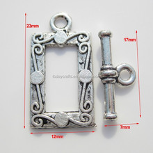 Antique Silver Colour Zinc Alloy Jewelry unique snake toggle clasps for necklace and leather bracelets