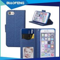 Latin America hottest PU leater wallet case foldable flip stand cell phone case for iphone 6,7