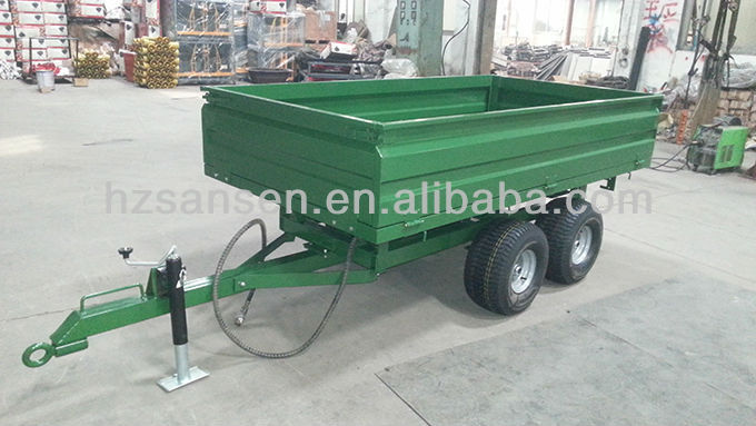 High Quality European Hydraulic Dump Trailer For Sale;Tractor Trailer 4wheel 20*10-8 tire