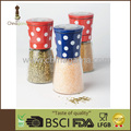 BSCI Audit Transparent lid red dot 6OZ 170ml Food Grade Stepless Colored Aluminum Spice Grinder