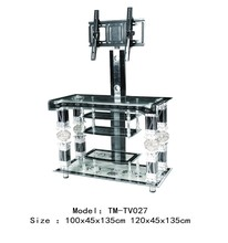cheapest price tempered glass tv stand, tv stand design for sale in egypt model TV027