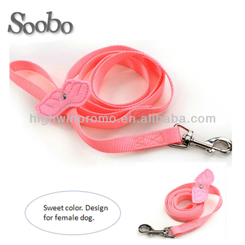 Pink Nylon Dog Collar