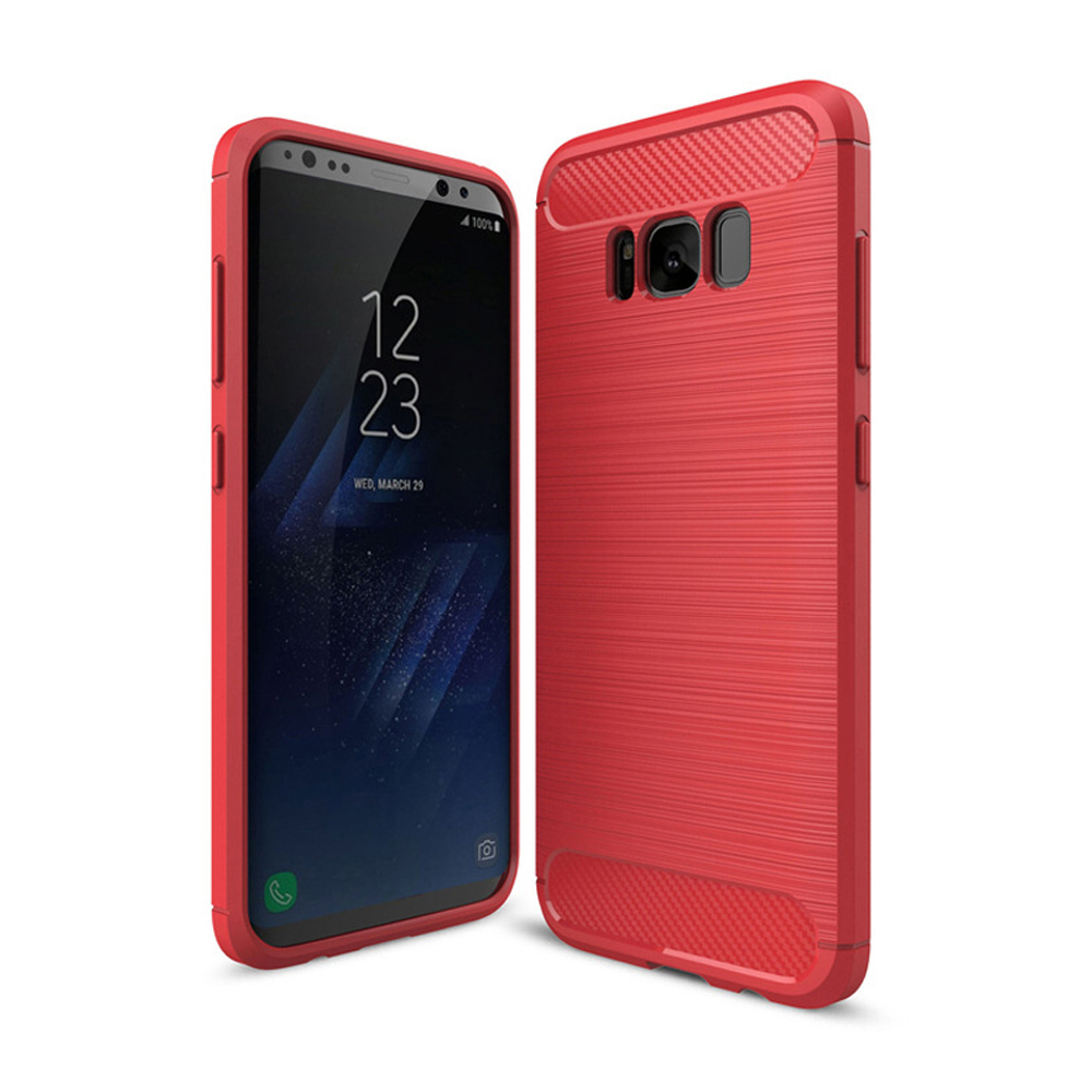Hard Rugged silicon back case cover protective for Samsung galaxy S8 plus