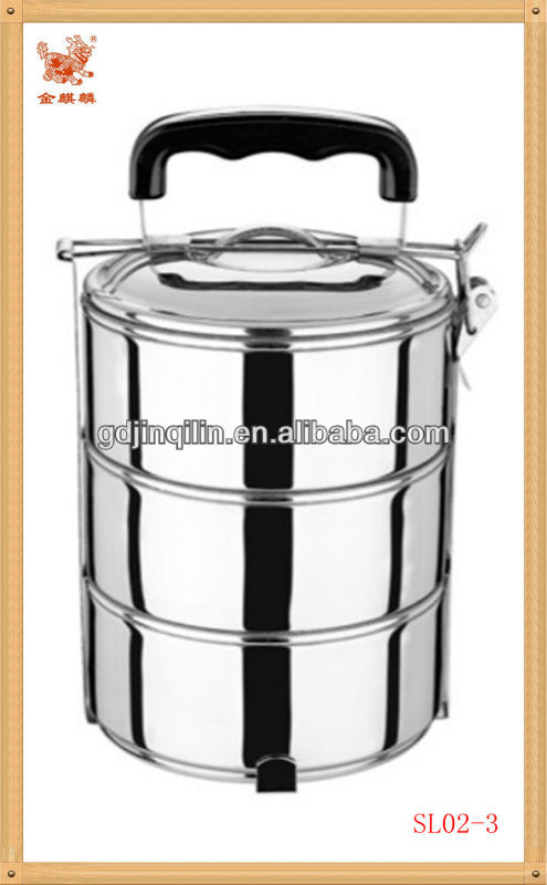 new products more layer round shape stainless lunch box with good quality