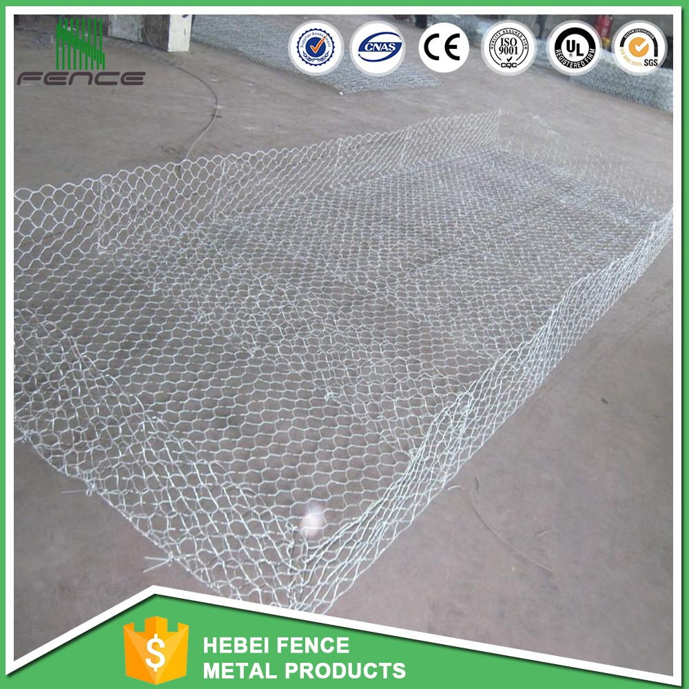 Competitive 4x1x1 pvc coated gabion box for Bridge protection