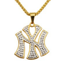 Wholesale Fashion Jewelry Costume Pendant Necklace Long Chain 18K Gold Plated Necklace Hip Hop Styles