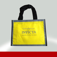 Promotion new design laminated deluxe folding shopping bag 100% manufacturer
