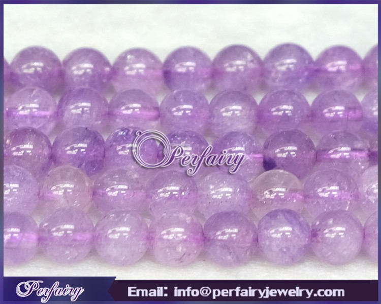 6mm/8mm round polished natural gemstone purple lavender chalcedony rough