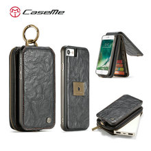 For iPhone 7 PU Leather Case CASEME Brand Cell Phone Cover for iphone 7S Full Protective Mobile Phone Case for IPhone 8
