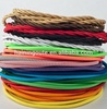 Colorful power cables electric fabric cable wire