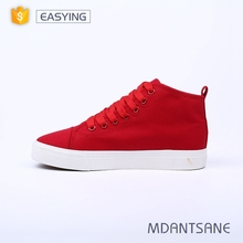 Excellent quality and reasonable price red women canvas shoes, lady casual shoes