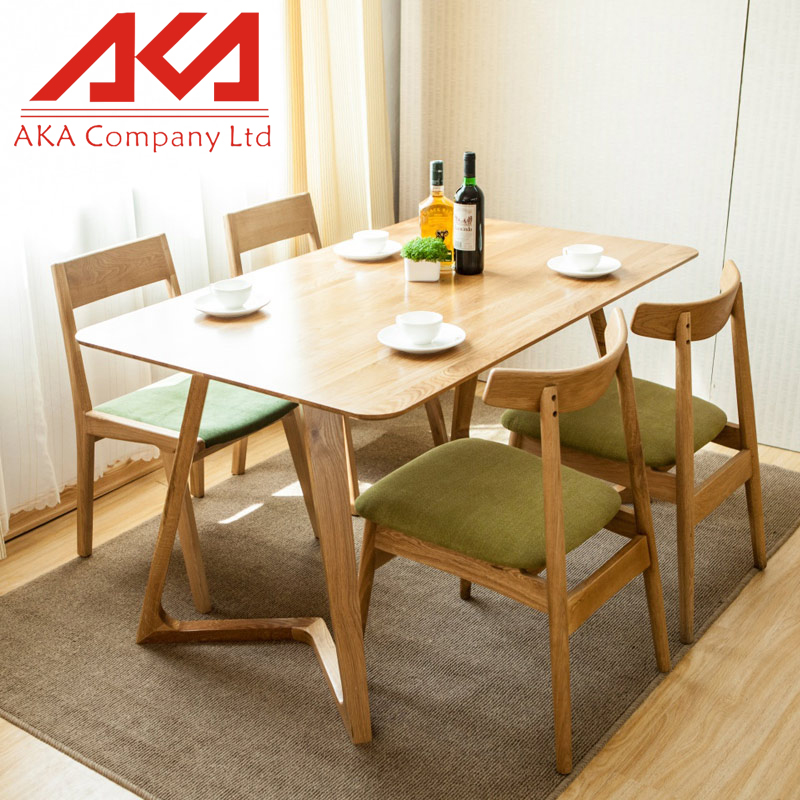 Environmental Solid Pine Kitchen Table Wood Type Cheap Dining Room Furniture