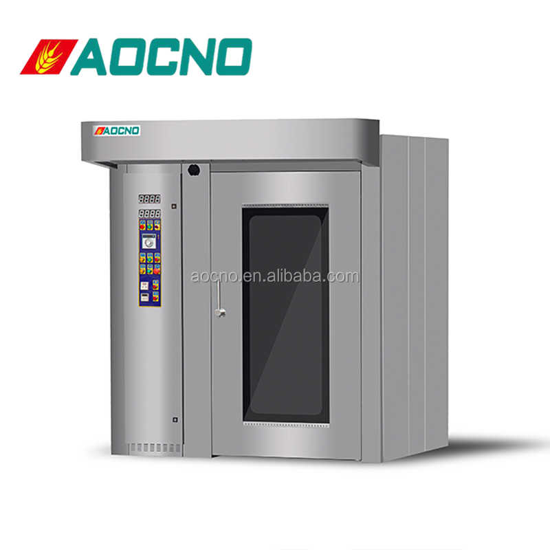 32/64 trays commercial type elctric functional gas rotary oven