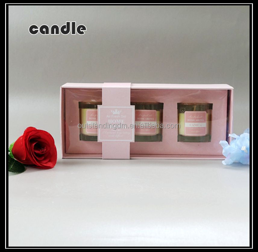Paraffin Soy Blend Wax Scented Candle Gift Set For Wedding Favor