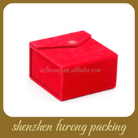 Best custom logo printed plastic velvet jewelry box, watch box, necklace hanging box