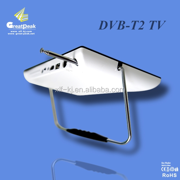9'' portable dvb-t2 digital terrestrial receiver tv MPEG4/H.264 dvb-t2 TV with USB 2.0 interface
