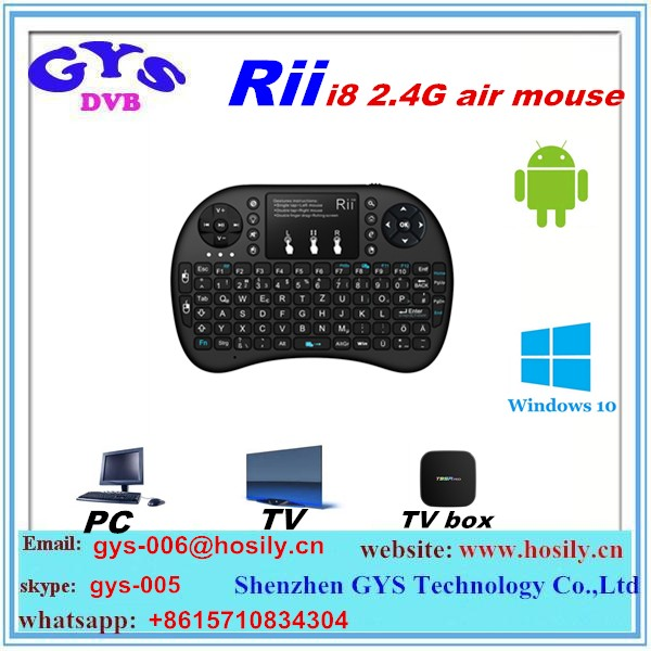 Wholesale High Quality Mini Keyboard I8 Mouse 2.4G Wireless Air Flying Mouse KeyBoard