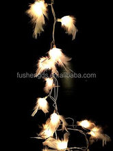 STRING LIGHTS 20/FEATHER FAIRY PARTY/PATIO/DECOR/CHRISTMAS/WEDDING/BEDROOM/WHITE