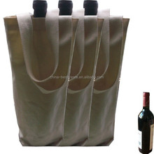 Factory canvas wine carrier bags with custom printing