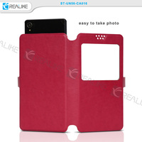 leather universal flip phone case cover for Huawei, univeral leather case cover