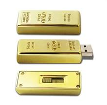 Custom USB gold bar flash memory usb support 4/8/16GB sticks