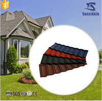 Bamboo style ASA coated synthetic spanish roof tile /kerala metal roof tile
