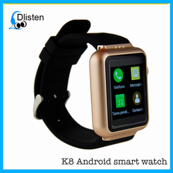 2016 android wifi K8 smart watch 3g for android and IOS mobile phones