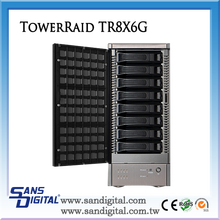Sans Digital TowerRAID TR8X6G 8 Bay 6G SAS / SATA Modularize JBOD Storage Enclosure RAID Storage