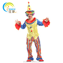 Rainbow Clown Costume Christmas Party Party Dress Up Halloween cosplay adult costume / with colored wig