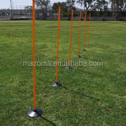 Sports Agility soccer / basketball training poles with rubber base