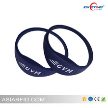 Ultralight HF Chip Silicone Rubber Wristband For Swimming Pool