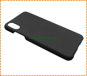 New Blank Black Matte Plastic PC Phone Cover For iPhone X Case