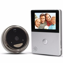 white and black color Wifi ring video doorbell with cameras and 2.8inch hd screen monitor