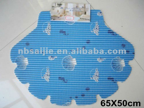 PVC shell shape anti-slip fancy mat,bathmat