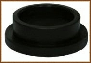 Flange adaptor for HDPE socket fittings